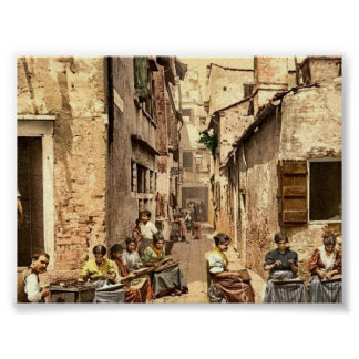 A court yard (Calle dell Angelo a San Martino), Ve Posters