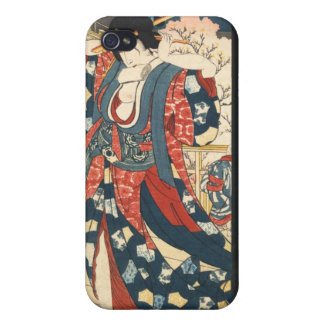 A Courtesan Fixing Her Hair Cases For iPhone 4