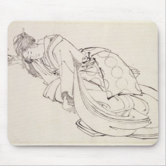 A Courtesan Offering a Cup, 18th-19th century Mouse Pad