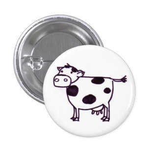 A Cow 1 Inch Round Button