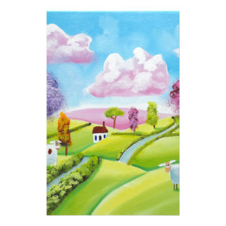 A cow and a sheep stationery