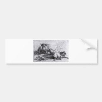 A Cow and Three Sheep by Adriaen van de Velde Bumper Sticker