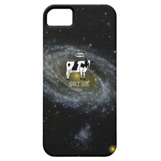 A cow become Space Junk at the Universe iPhone SE/5/5s Case