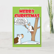 A Cow in a Pear Tree Holiday Card
