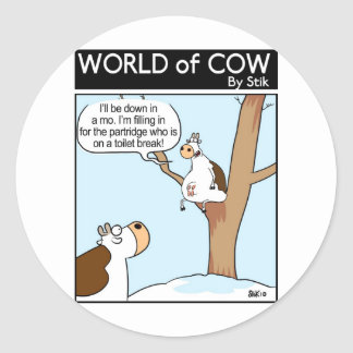A Cow in a pear Tree Sticker