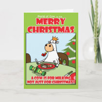 A Cow is for Milking! Holiday Card