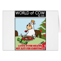 A Cow is for Milking not just for Christmas Card