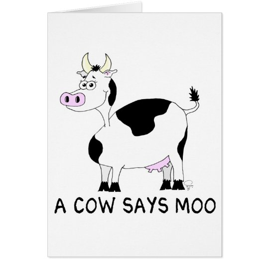 A Cow Says Moo Card