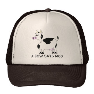 A Cow Says Moo Trucker Hat