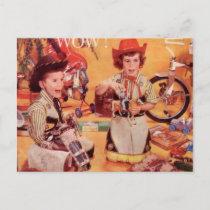 A Cowboy Christmas Holiday Postcard