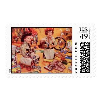 A Cowboy Christmas Postage Stamp
