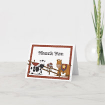 A Cowboy  Cowgirl Thank You Card
