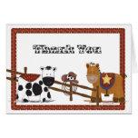 A Cowboy  Cowgirl Thank You Card