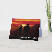 A Cowboy is still a cowboy Holiday Card