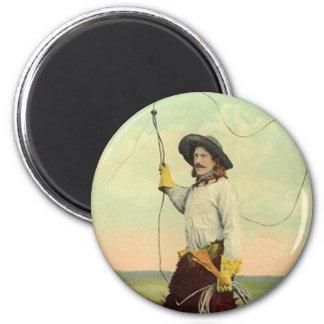 A cowboy showng his rope skill imán redondo 5 cm