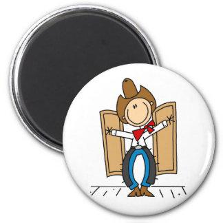 A Cowboy's Entrance Magnet Fridge Magnets