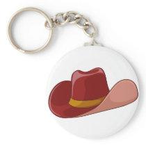 A cowboy's hat keychain