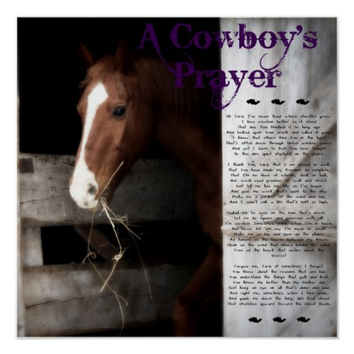 A Cowboy's Prayer Posters