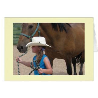 A Cowgirl Leads - Western Graduation Card