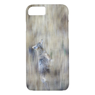 A coyote runs through the hillside blending into iPhone 8/7 case