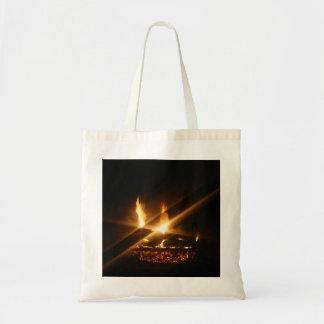 A Cozy Fire Tote Bag