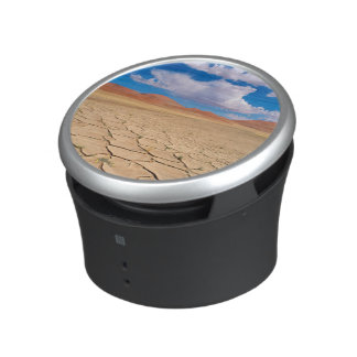 A cracked desert plain bluetooth speaker