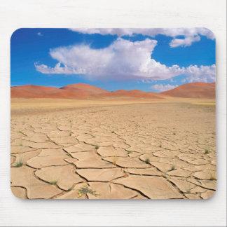 A cracked desert plain mouse pad
