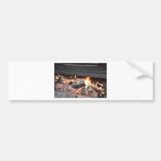 A Crackling Fire Bumper Sticker