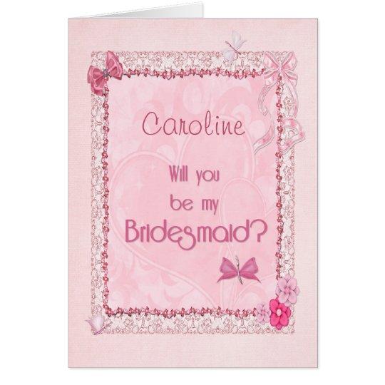 A craft look bridesmaidl invitation