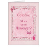 A craft look Flower Girl invitation