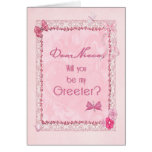 A craft look Greeter invitation Cards