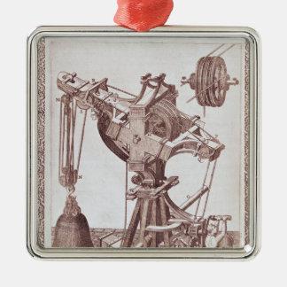 A Crane Metal Ornament