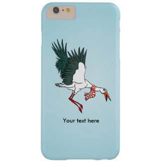 A Crane Wearing A Striped Winter Scarf Barely There iPhone 6 Plus Case