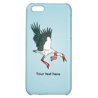 A Crane Wearing A Striped Winter Scarf Cover For iPhone 5C