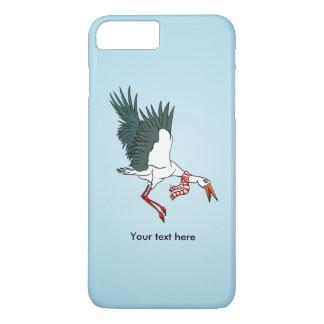 A Crane Wearing A Striped Winter Scarf iPhone 8 Plus/7 Plus Case