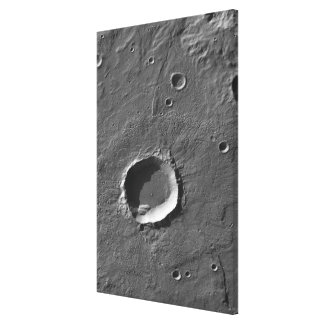 A crater on Mars Canvas Print