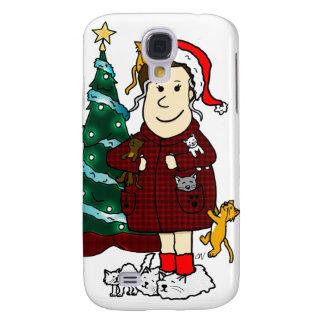 'A Crazy Cat Lady Christmas' Samsung Galaxy S4 Case