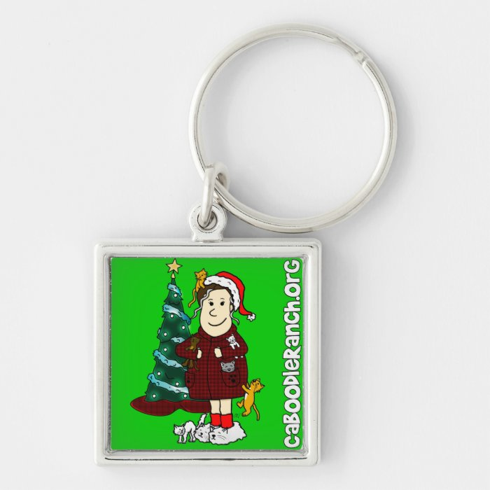 'A Crazy Cat Lady Christmas' Keychain