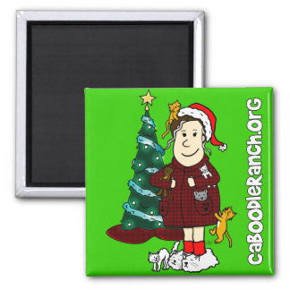 'A Crazy Cat Lady Christmas' Magnet