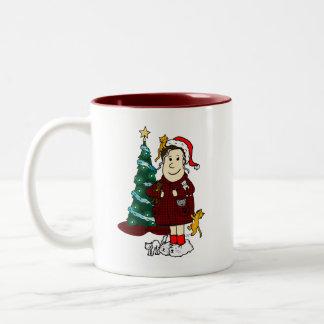 'A Crazy Cat Lady Christmas' Two-Tone Coffee Mug