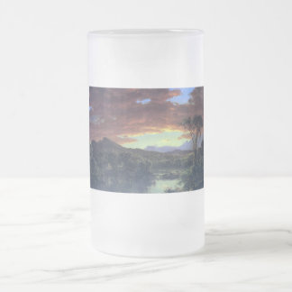 A creek in the woods by Asher Brown Durand Frosted Glass Beer Mug