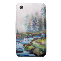 painting, trees, creeks, water, blue, landscape, wilderness, art, artsy, ginette, forest, nature, [[missing key: type_casemate_cas]] com design gráfico personalizado