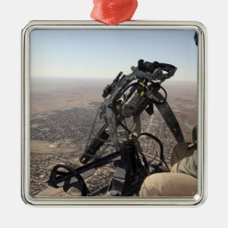 A crew chief looks for suspicious activity christmas ornaments