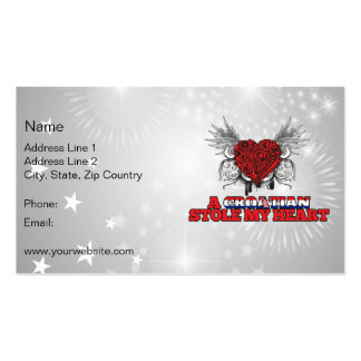 A Croatian Stole my Heart Double-Sided Standard Business Cards (Pack Of 100)
