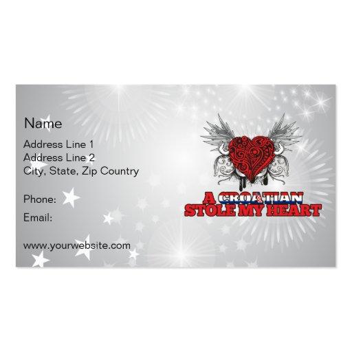 A Croatian Stole my Heart Business Card
