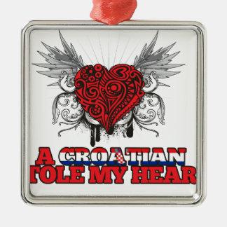 A Croatian Stole my Heart Metal Ornament