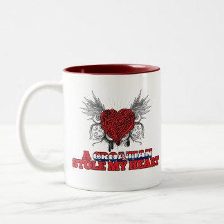 A Croatian Stole my Heart Two-Tone Coffee Mug
