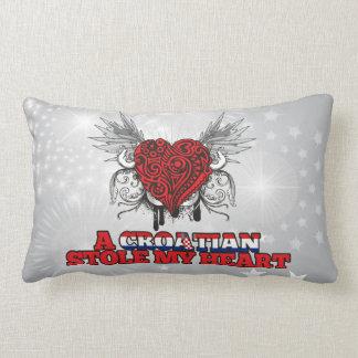 A Croatian Stole my Heart Throw Pillow