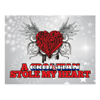 A Croatian Stole my Heart Postcard