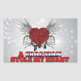 A Croatian Stole my Heart Rectangular Sticker